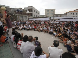 Villagers gather for meeting in Lufeng