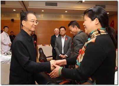 2011年12月1日时任总理温家宝接见陈淑霞