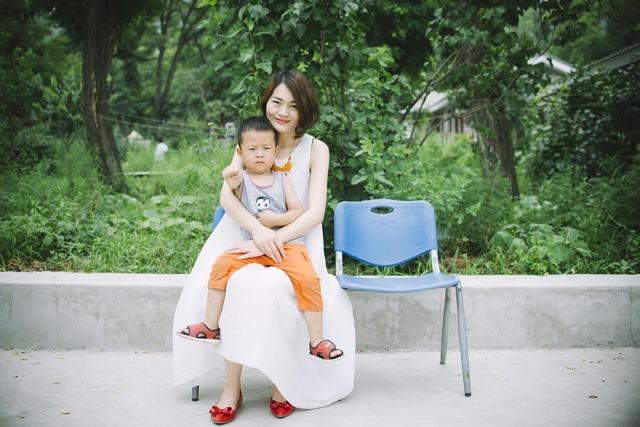 王全璋太太李文足及其兒子