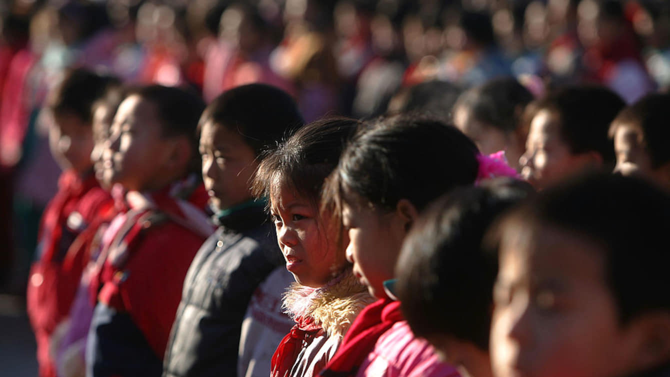 Migrant Children Attend School In Beijing