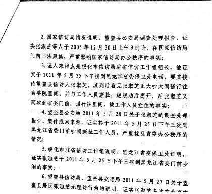 黑龙江上访人员张淑芝维权及受迫害经历
